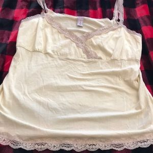 Old navy yellow and tan tank top size 1x